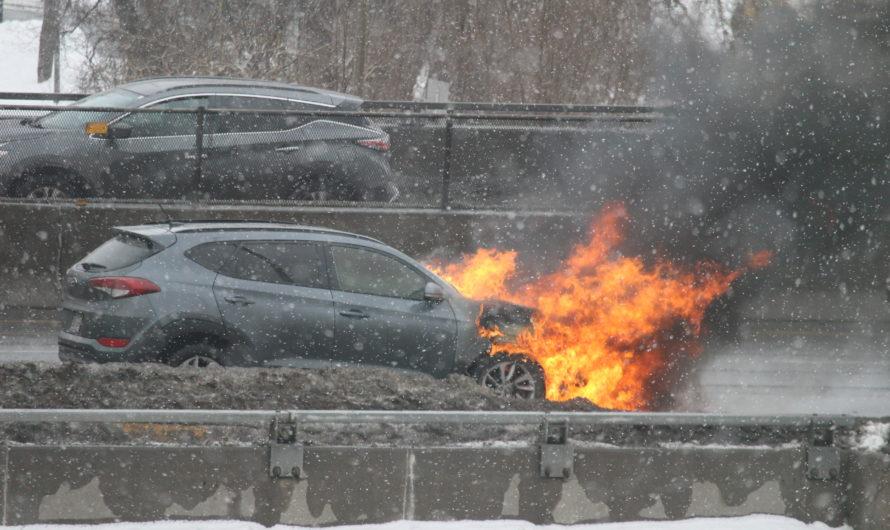 Incendie sur l'autoroute 40 à Montréal