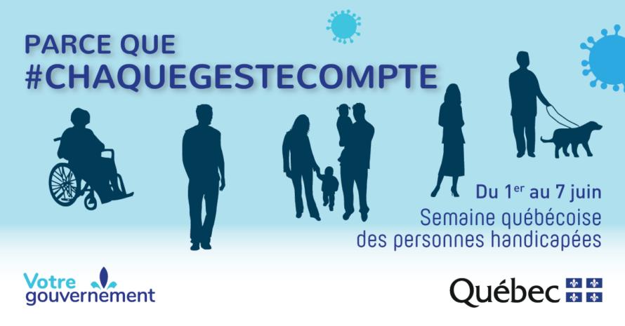 1 au 7 juin – Semaine québécoise des personnes handicapées